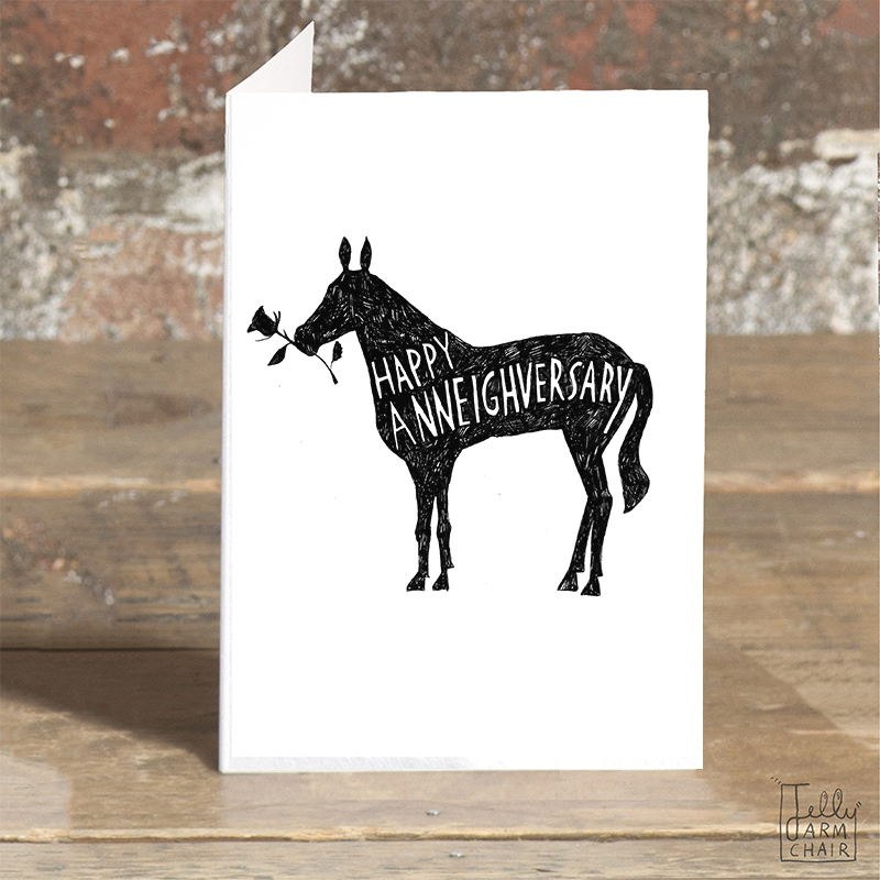 Happy-Anneighversary_-Horse-pun-anniversary-card-for-horse-riders-jockeys-and-horse-lovers_BW24_OT