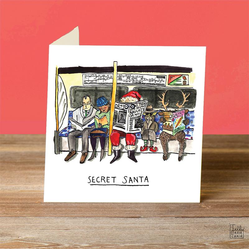 Secret-Santa_-Secret-Santa-Christmas-card-pun.-London-underground-Christmas-card_CH05_OT