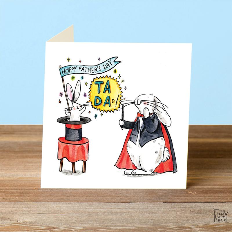 Ta-Da-Magic_-Fathers-Day-card-with-magic-theme-and-rabbit-base-down_FD15_OT