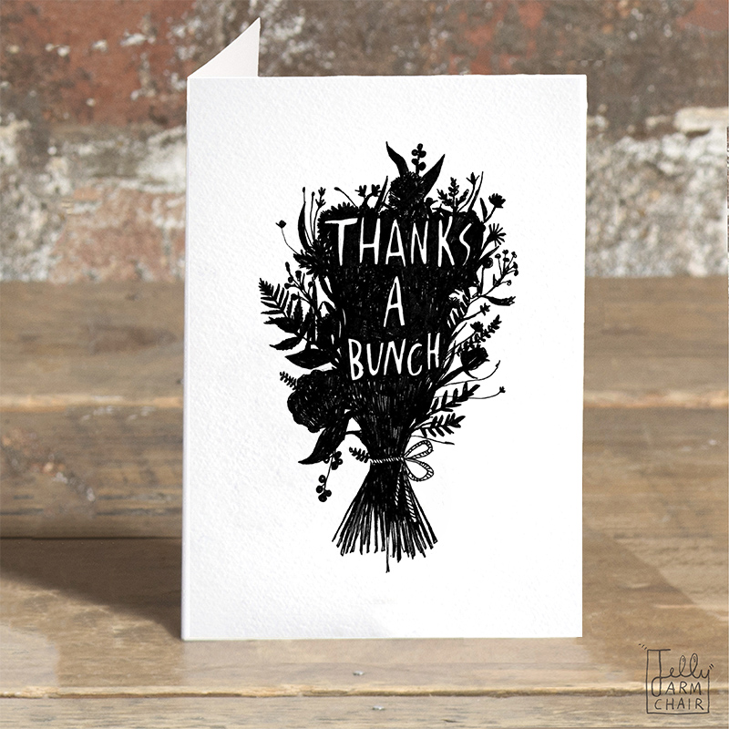 Thanks-a-Bunch_-Thank-you-greetings-card-with-floral-design-for-gardeners-and-flower-fanatics_BW18_OT