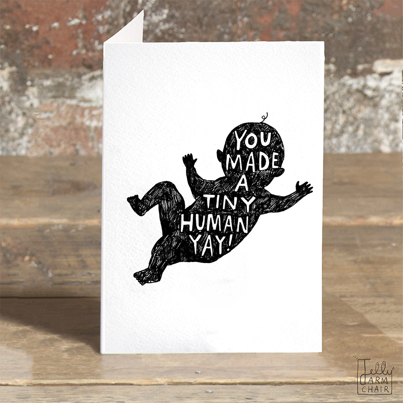 Tiny-Human_-Funny-New-baby-greetings-card.-Congratulations-on-the-new-arrival-greetings-card_BW31_OT