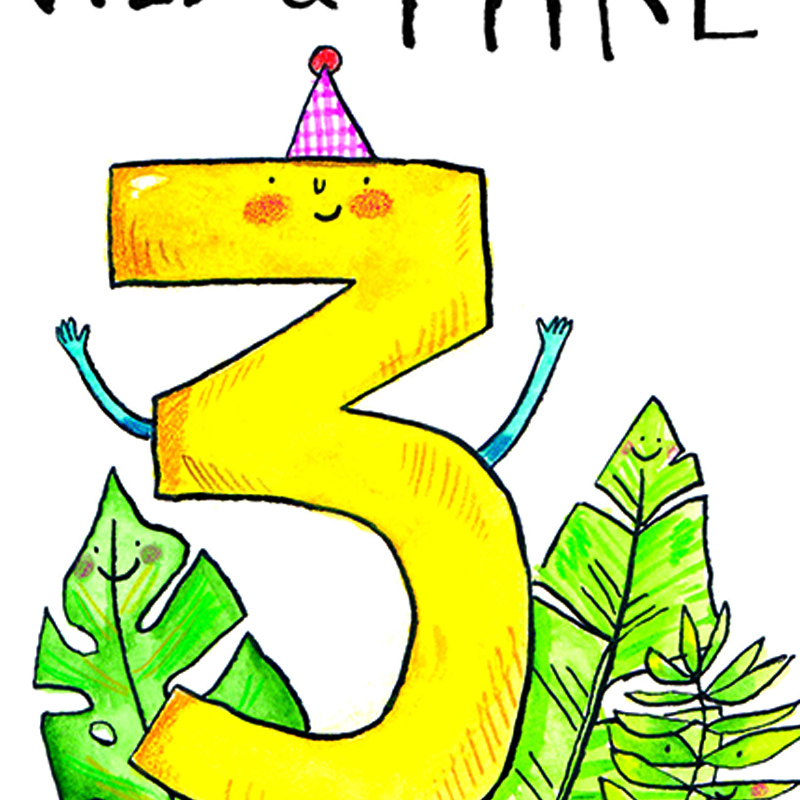 Wild-And-Three_-Happy-Third-Birthday-Card.-Three-year-olds-birthday-card-for-kids_AN03_CU