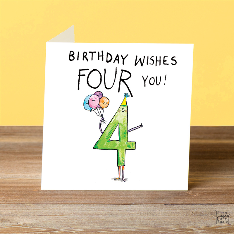 Wishes-Four-You_-Fun-fourth-birthday-card.-Birthday-card-for-four-year-old-kids_AN04_OT